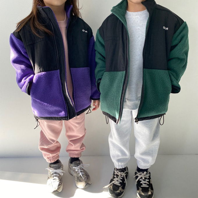 OUR - BRAND - Korean Children Fashion - #Kfashion4kids - Retro Fleece Jacket