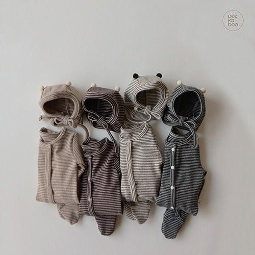 PEEKABOO - BRAND - Korean Children Fashion - #Kfashion4kids - Ttatta Baby Foot Romper with Hat