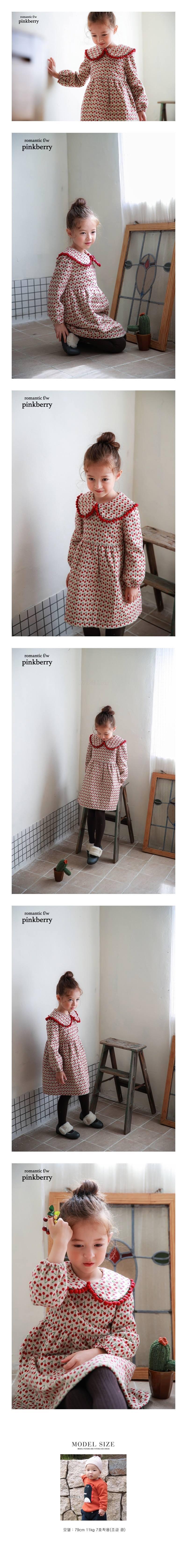 PINK BERRY - Korean Children Fashion - #Kfashion4kids - Cherry One-piece