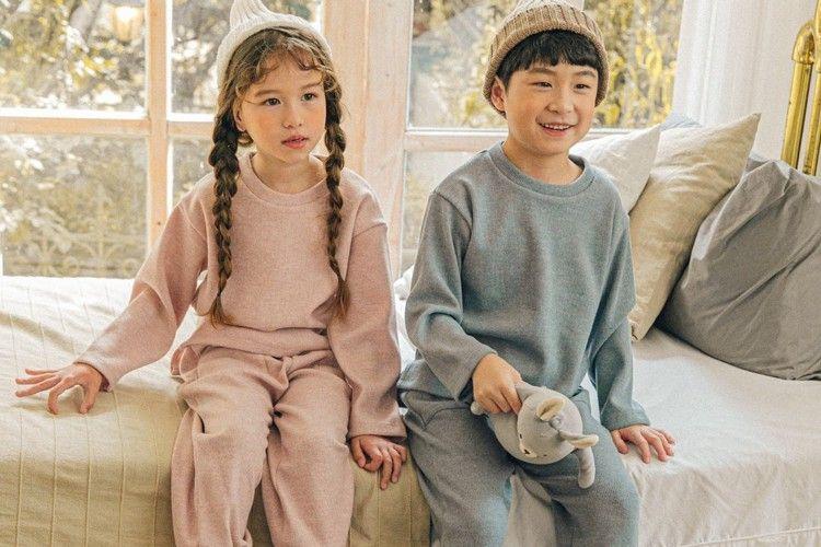 PINK BERRY - BRAND - Korean Children Fashion - #Kfashion4kids - Soft Knit Top Bottom Set
