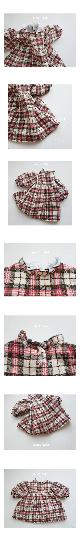 SMALL LABEL - Korean Children Fashion - #Kfashion4kids - Sweet Check One-piece