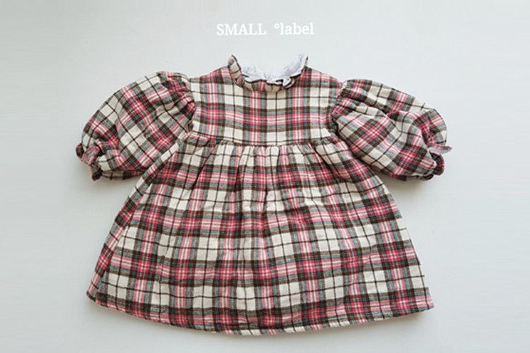 SMALL LABEL - BRAND - Korean Children Fashion - #Kfashion4kids - Sweet Check One-piece