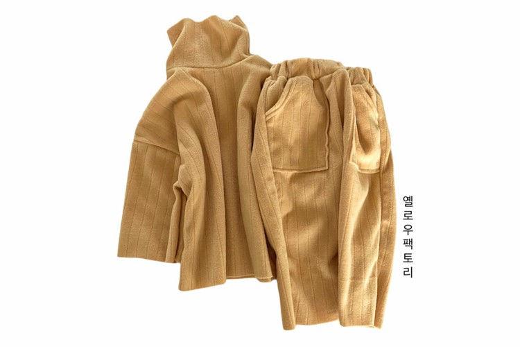 YELLOW FACTORY - BRAND - Korean Children Fashion - #Kfashion4kids - Lava Top Bottom Set