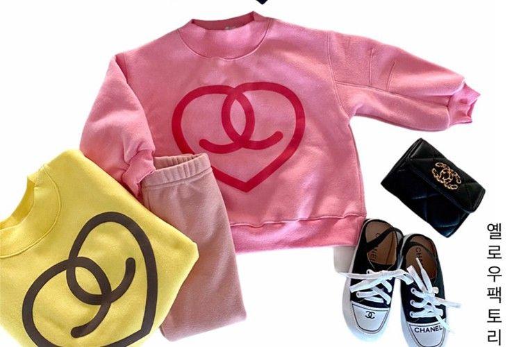 YELLOW FACTORY - BRAND - Korean Children Fashion - #Kfashion4kids - Love Sweatshirt