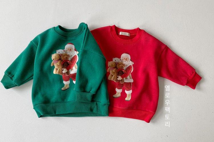 YELLOW FACTORY - BRAND - Korean Children Fashion - #Kfashion4kids - Santa Bear Sweatshirt