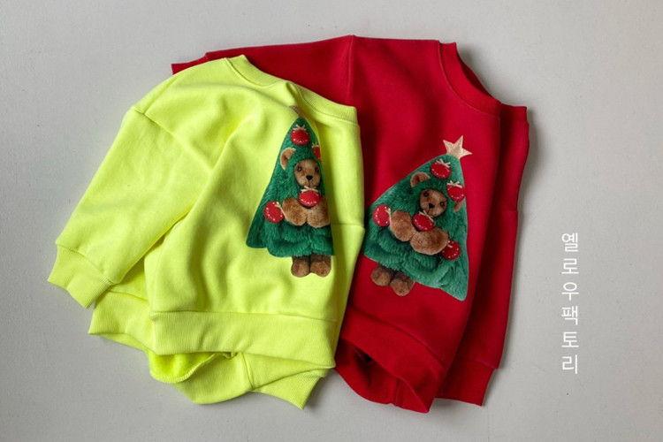 YELLOW FACTORY - BRAND - Korean Children Fashion - #Kfashion4kids - Tree Bear Sweatshirt