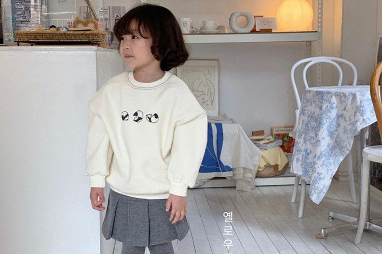 YELLOW FACTORY - BRAND - Korean Children Fashion - #Kfashion4kids - Rolling Panda Sweatshirt