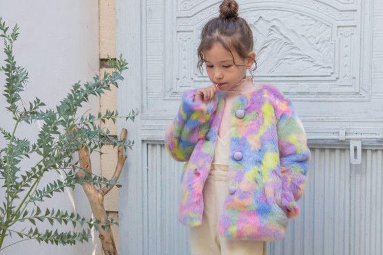 BERRY BERRY - BRAND - Korean Children Fashion - #Kfashion4kids - Marble Coat