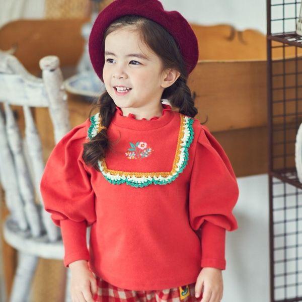MIMICO - BRAND - Korean Children Fashion - #Kfashion4kids - Flower Puff Tee
