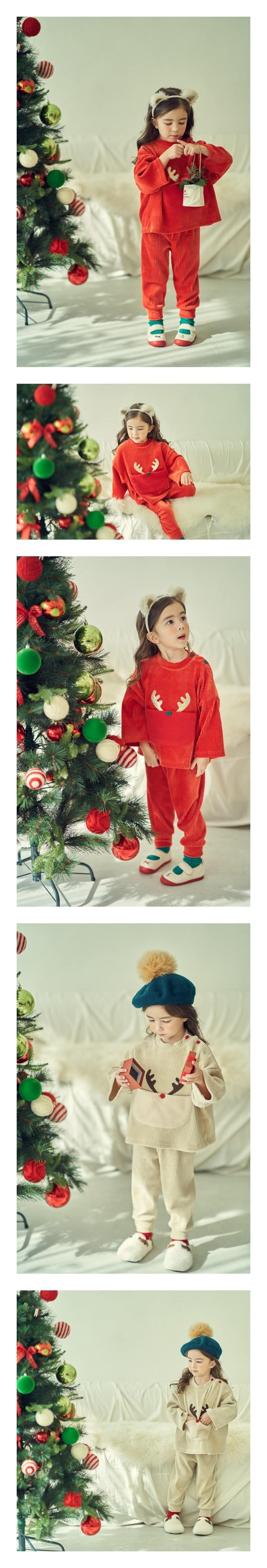 MIMICO - Korean Children Fashion - #Kfashion4kids - Christmas Top Bottom Set