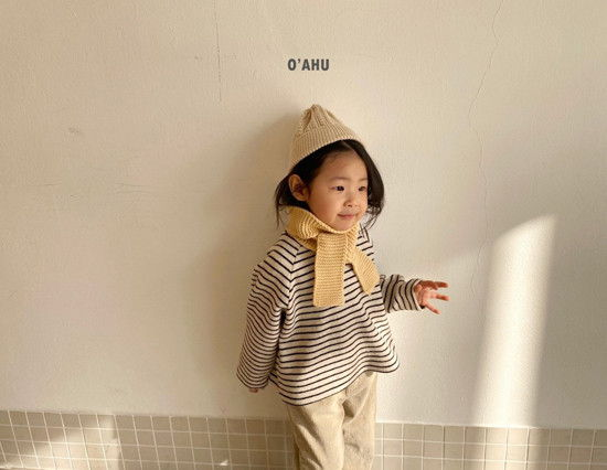 O'AHU - Korean Children Fashion - #Kfashion4kids - Thick Peach Turtleneck Tee - 4