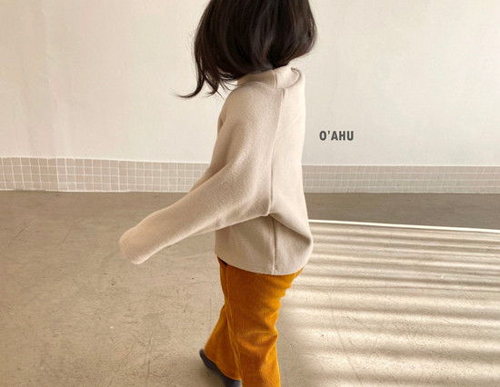 O'AHU - Korean Children Fashion - #Kfashion4kids - Thick Peach Turtleneck Tee - 8