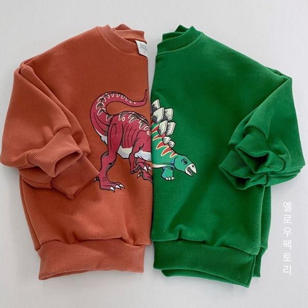 YELLOW FACTORY - BRAND - Korean Children Fashion - #Kfashion4kids - Dino Sweatshirt