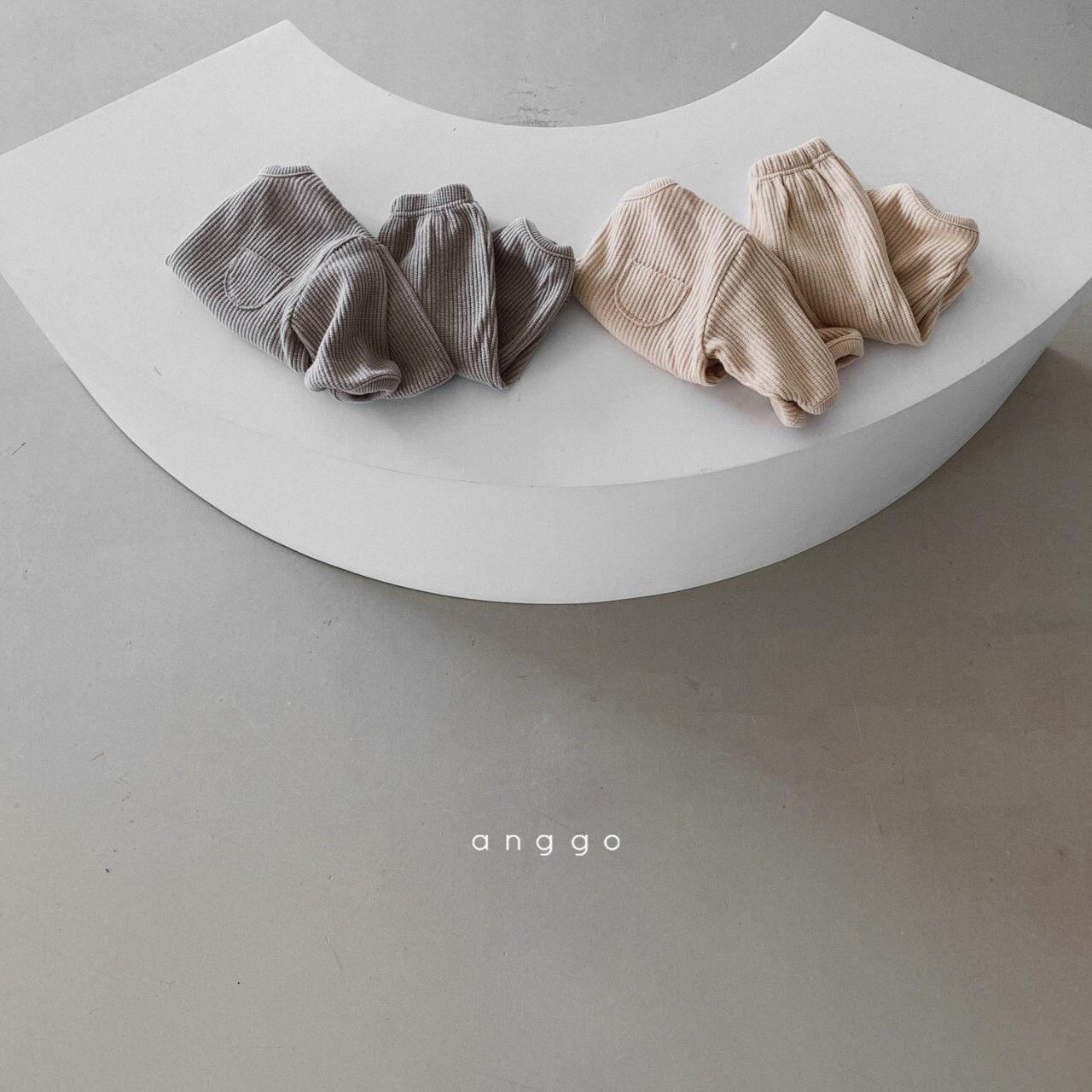 ANGGO - Korean Children Fashion - #Kfashion4kids - Croissant Top Bottom Set - 5