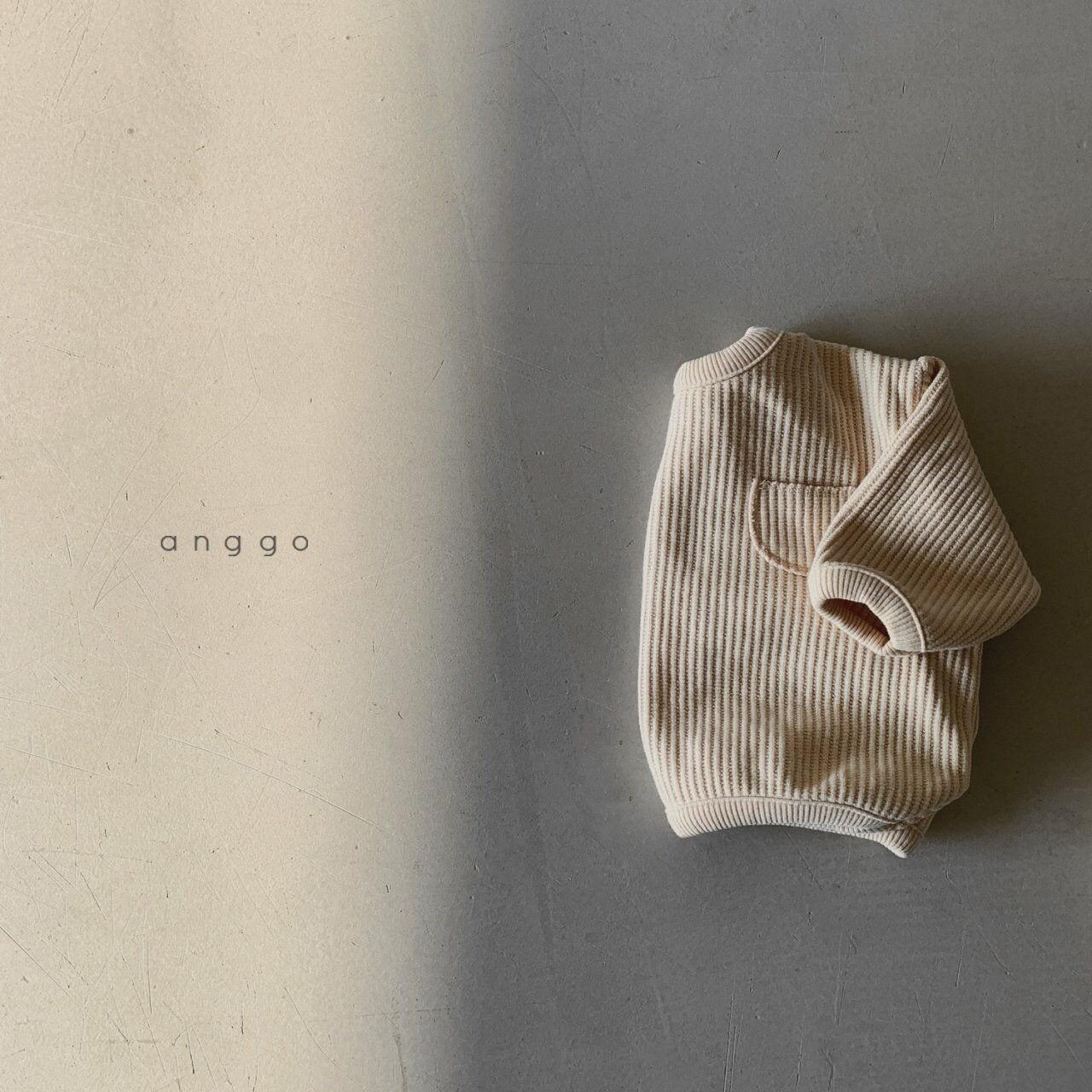 ANGGO - Korean Children Fashion - #Kfashion4kids - Croissant Top Bottom Set - 9