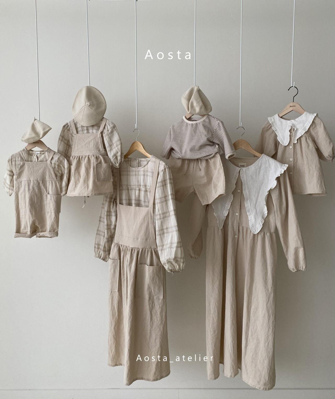 AOSTA - Korean Children Fashion - #Kfashion4kids - Bask Collar One-piece - 10