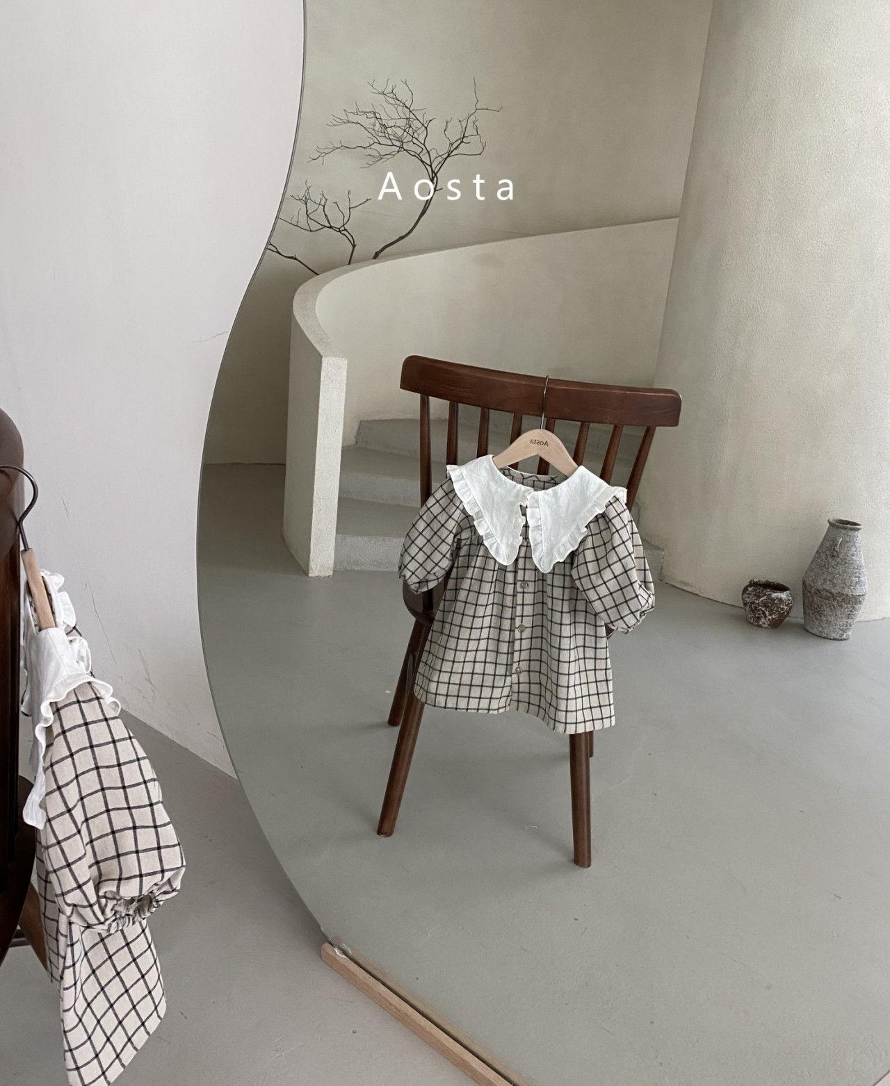 AOSTA - Korean Children Fashion - #Kfashion4kids - Bask Collar One-piece - 12