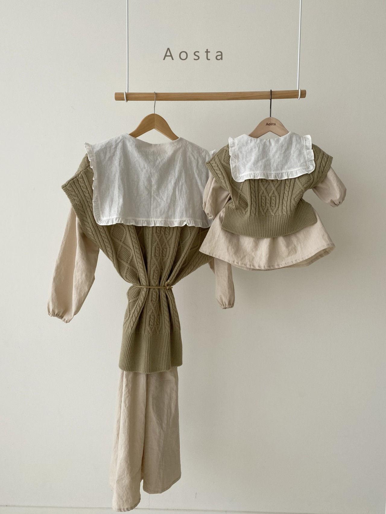 AOSTA - Korean Children Fashion - #Kfashion4kids - Bask Collar One-piece - 3