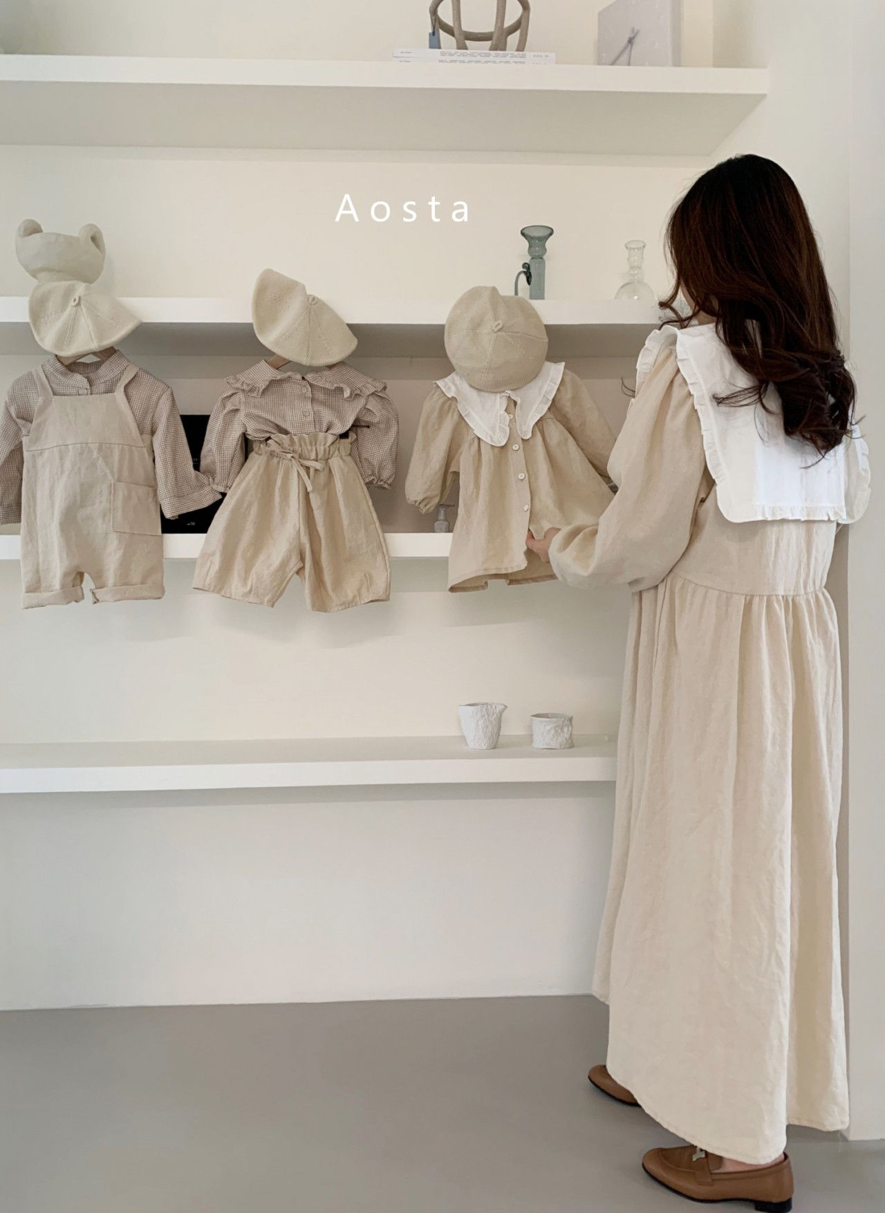 AOSTA - Korean Children Fashion - #Kfashion4kids - Bask Collar One-piece - 4