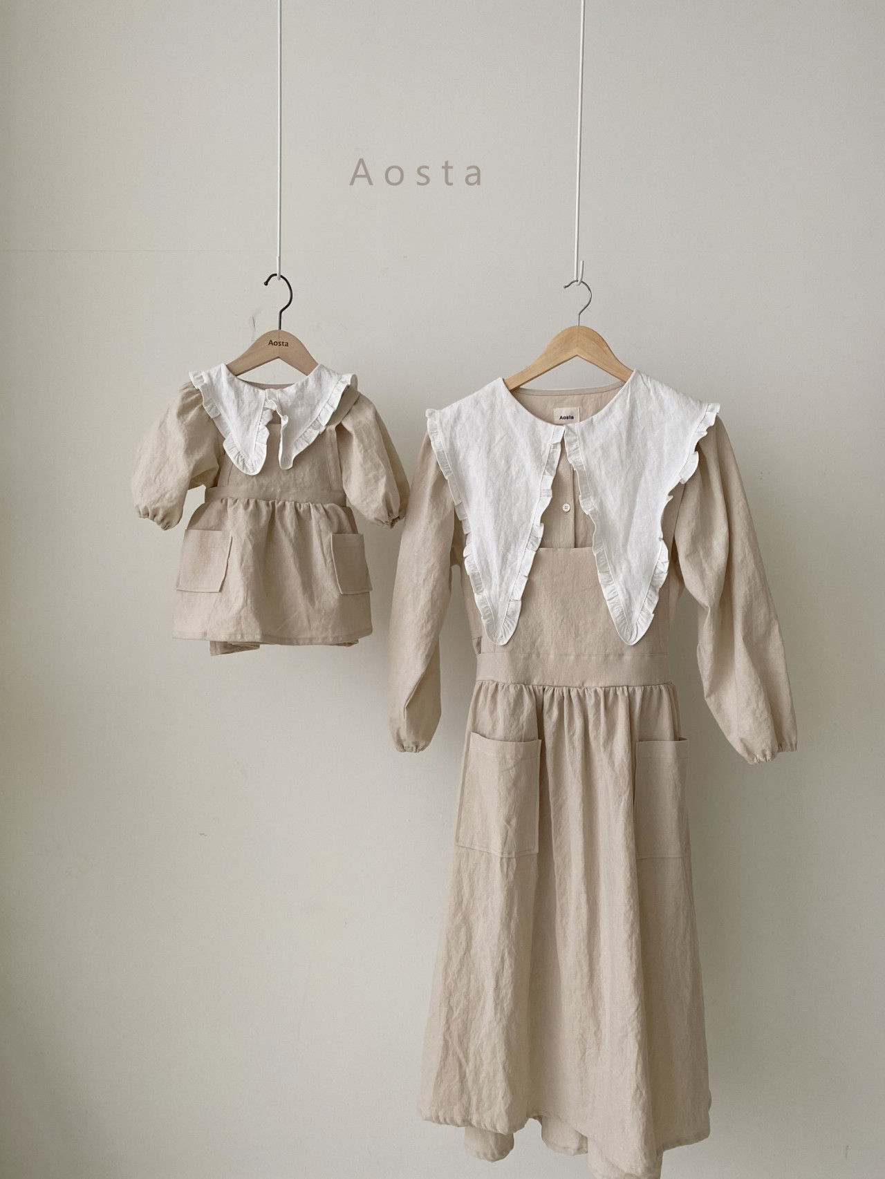 AOSTA - Korean Children Fashion - #Kfashion4kids - Bask Collar One-piece - 5