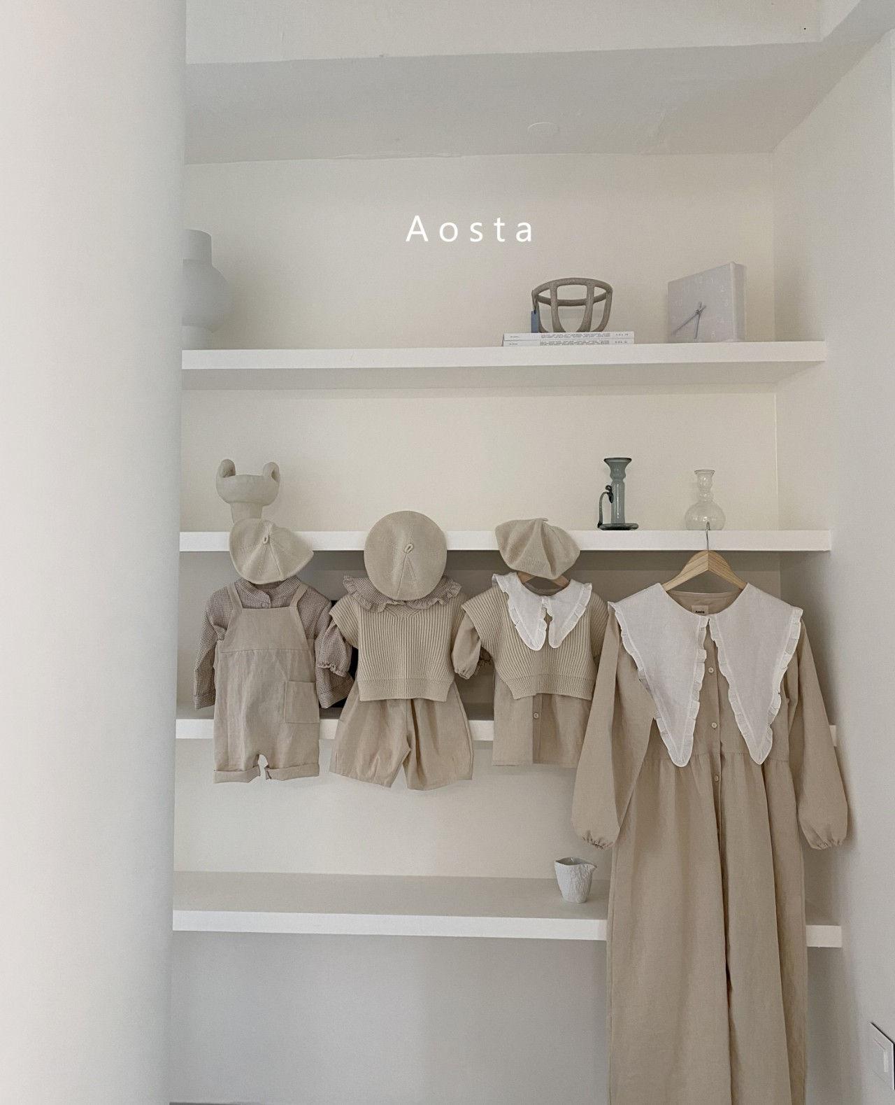 AOSTA - Korean Children Fashion - #Kfashion4kids - Bask Collar One-piece - 7