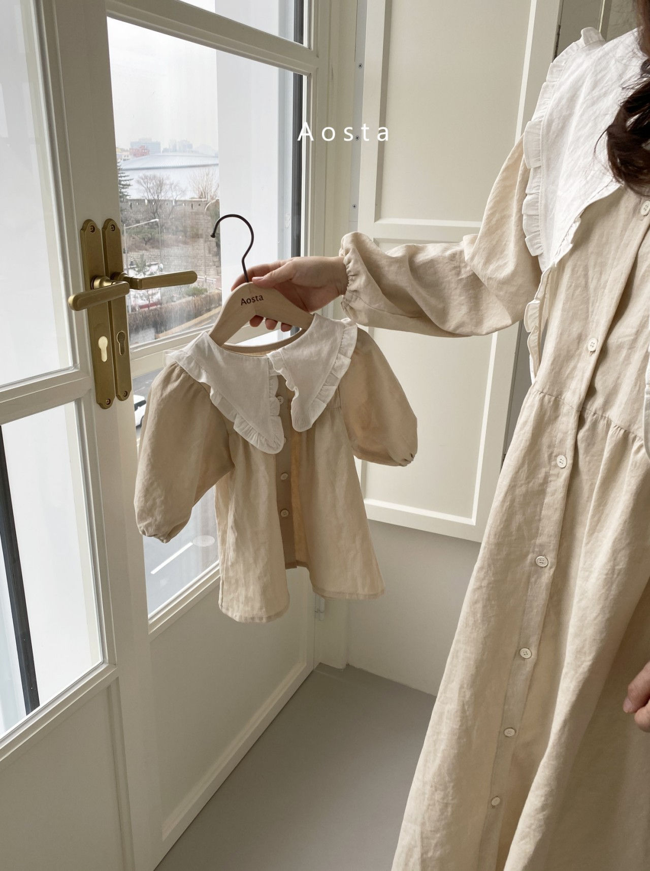 AOSTA - Korean Children Fashion - #Kfashion4kids - Bask Collar One-piece - 9