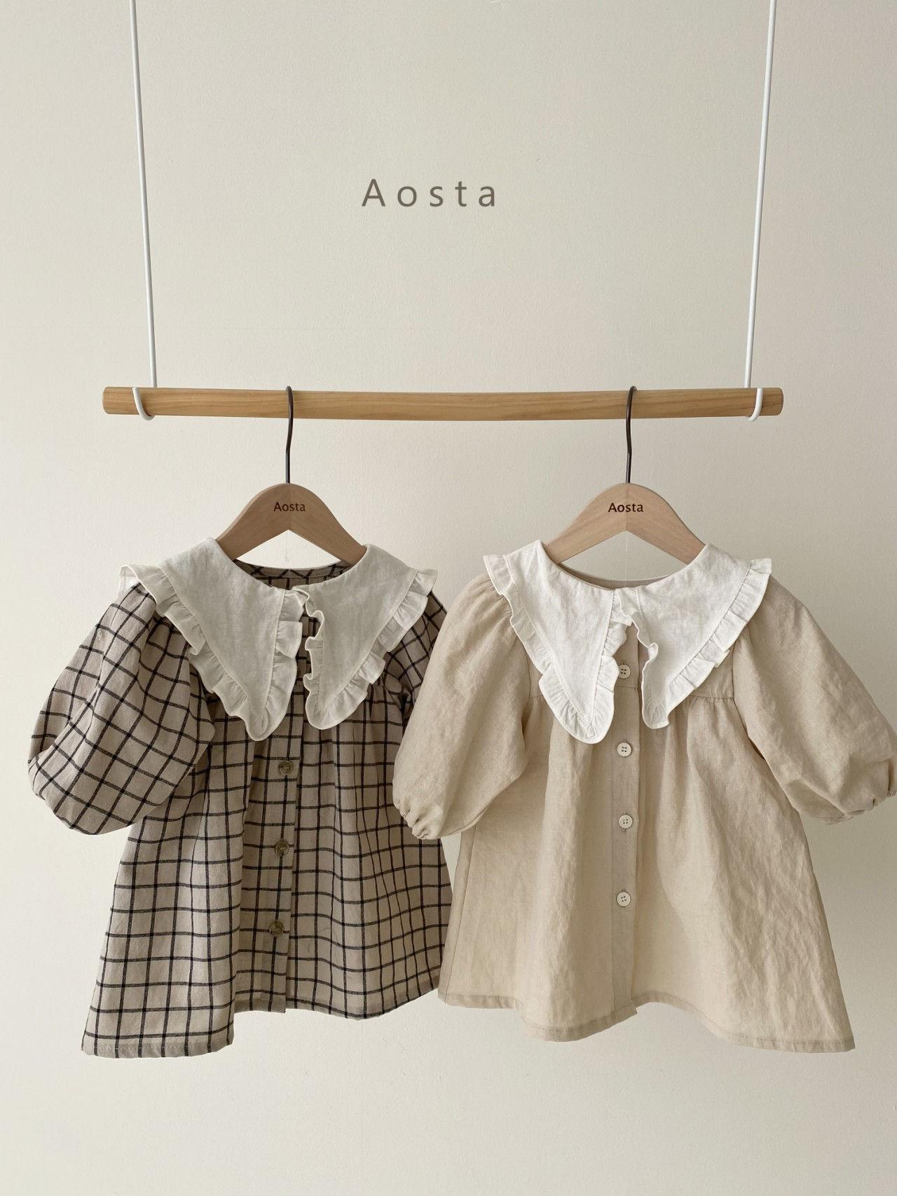 AOSTA - BRAND - Korean Children Fashion - #Kfashion4kids - Bask Collar One-piece
