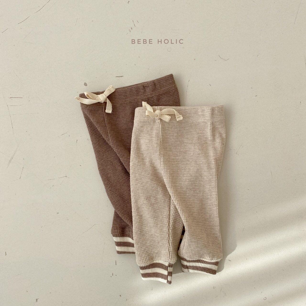 BEBE HOLIC - Korean Children Fashion - #Kfashion4kids - Waffle Solid Leggings - 2