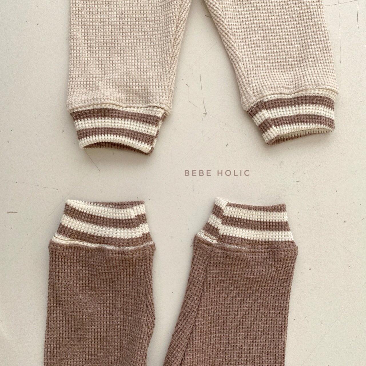 BEBE HOLIC - Korean Children Fashion - #Kfashion4kids - Waffle Solid Leggings - 3