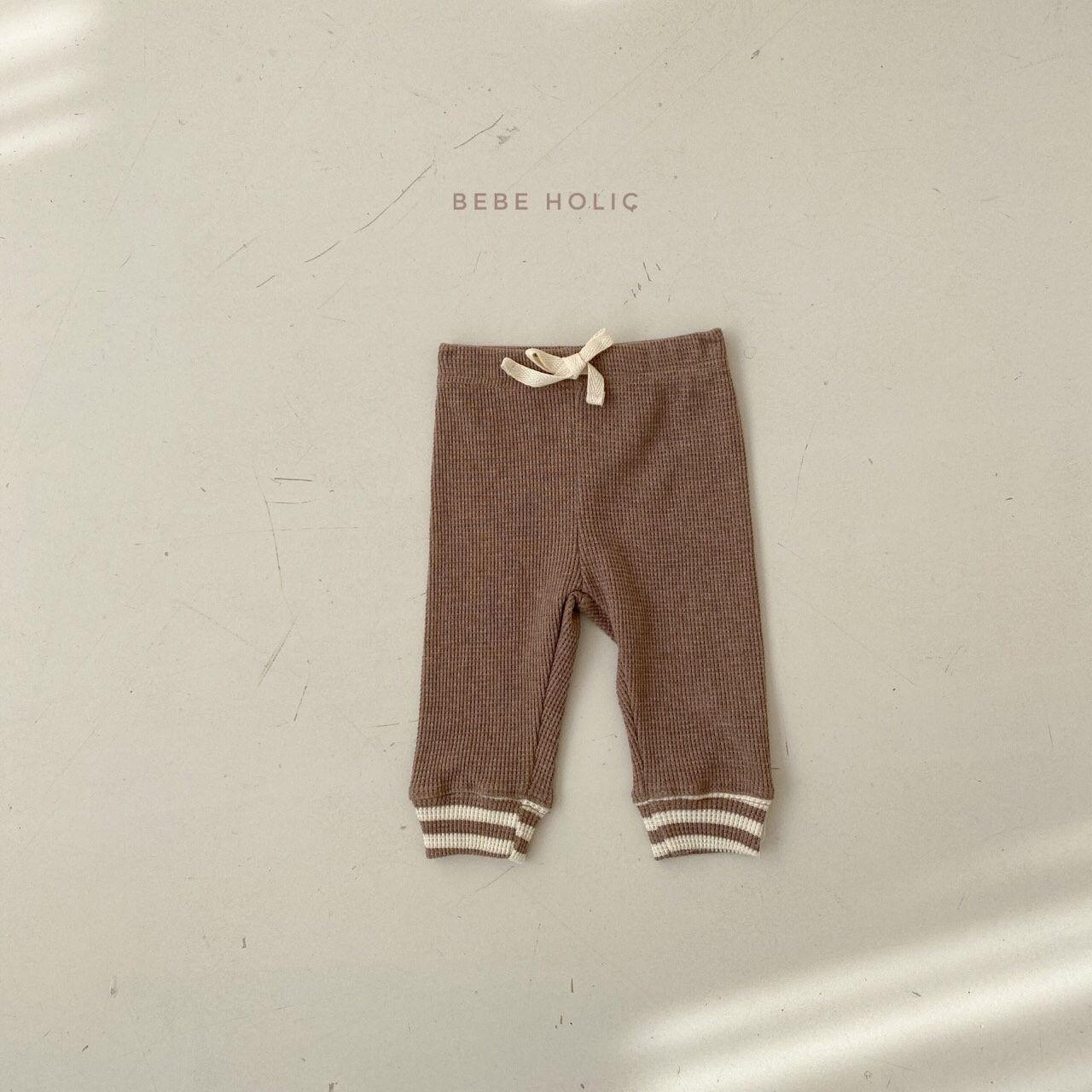 BEBE HOLIC - Korean Children Fashion - #Kfashion4kids - Waffle Solid Leggings - 4
