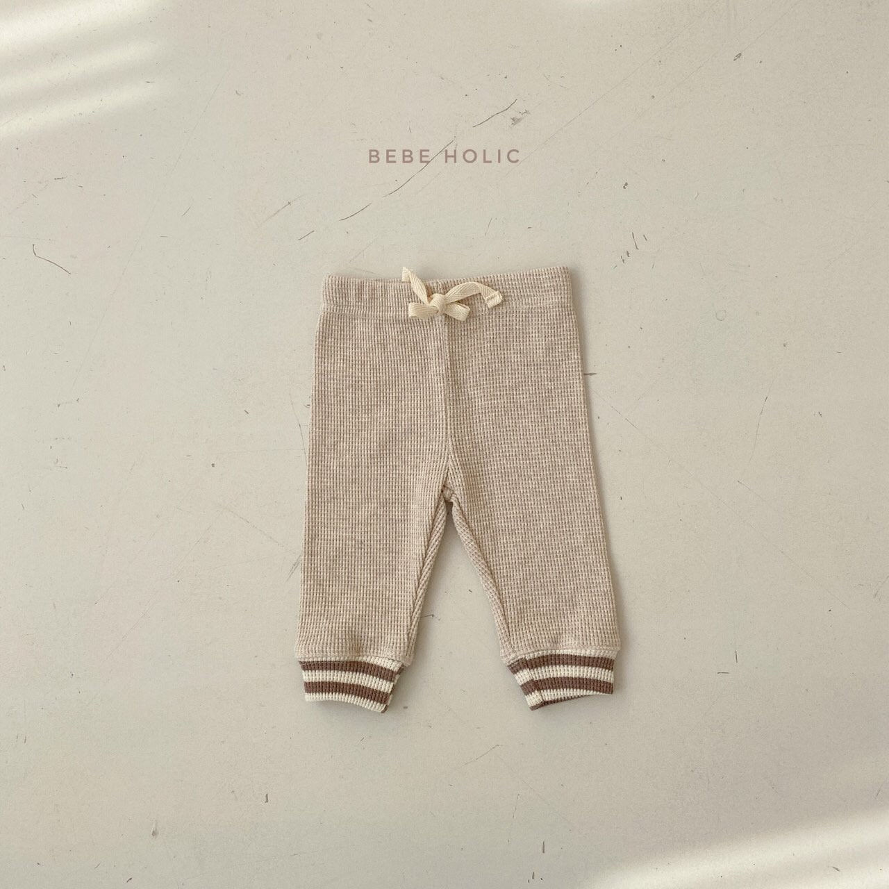 BEBE HOLIC - Korean Children Fashion - #Kfashion4kids - Waffle Solid Leggings - 5