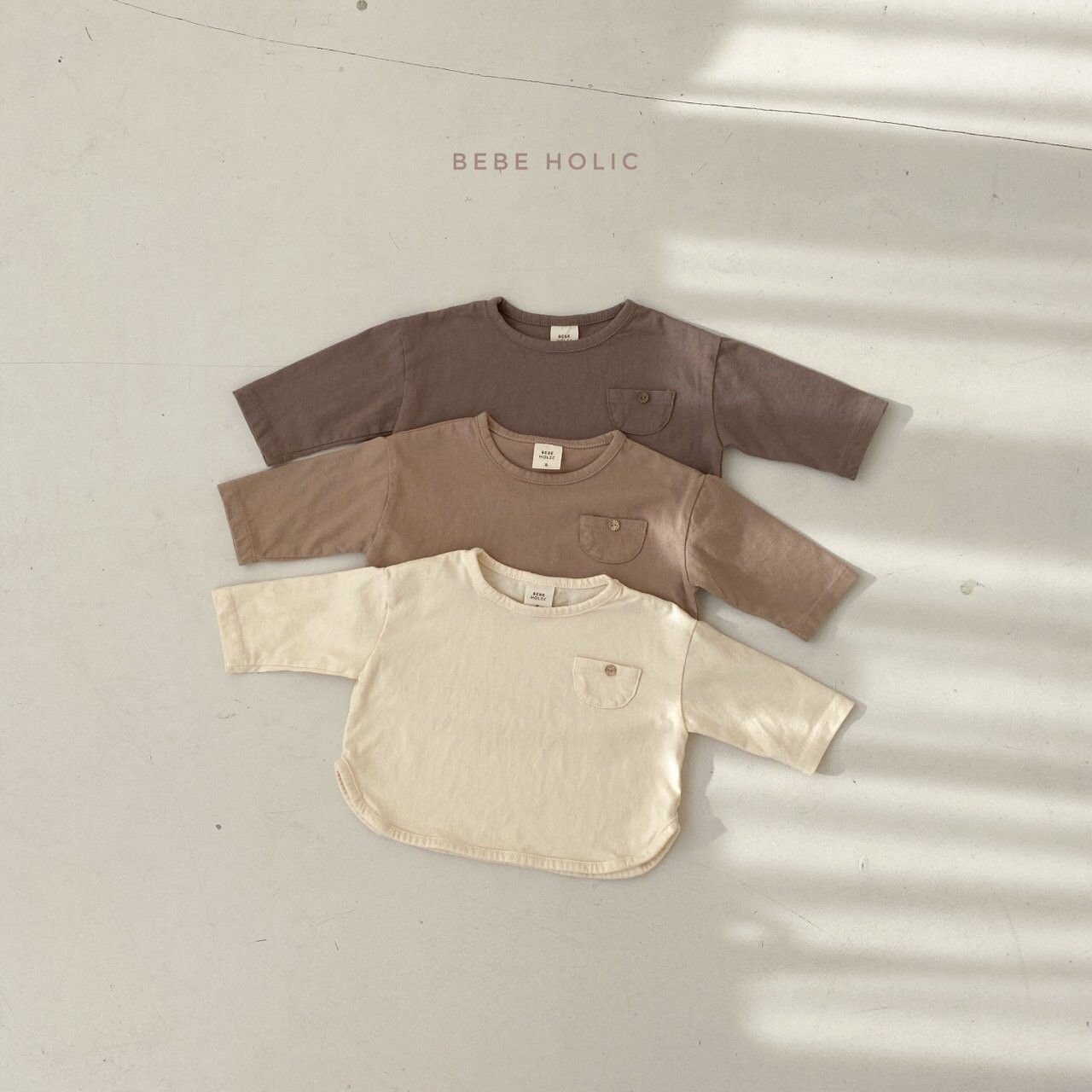 BEBE HOLIC - Korean Children Fashion - #Kfashion4kids - Pocket Piping Tee - 3