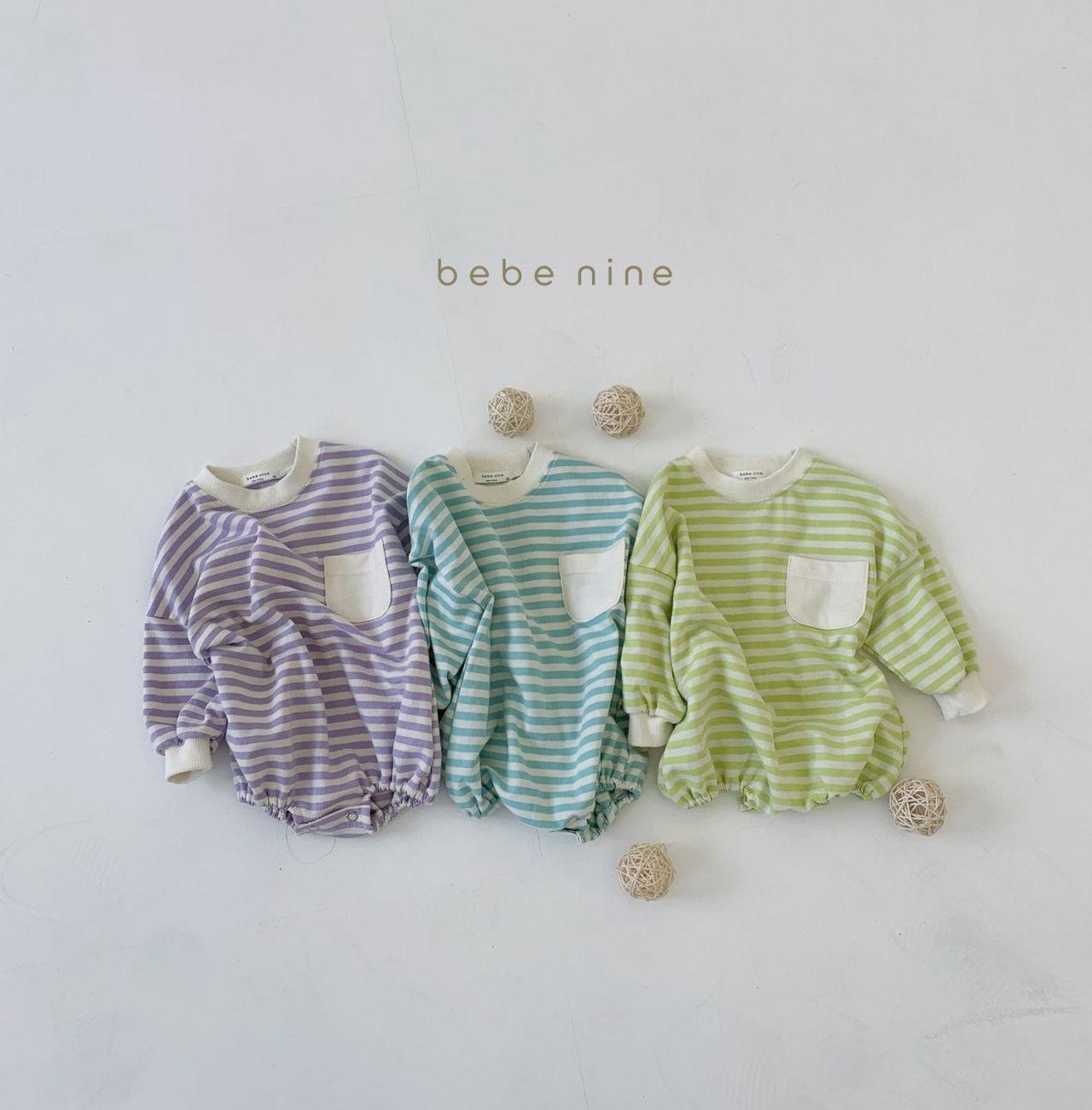 BEBE NINE - Korean Children Fashion - #Kfashion4kids - Candy Stripe Bodysuit
