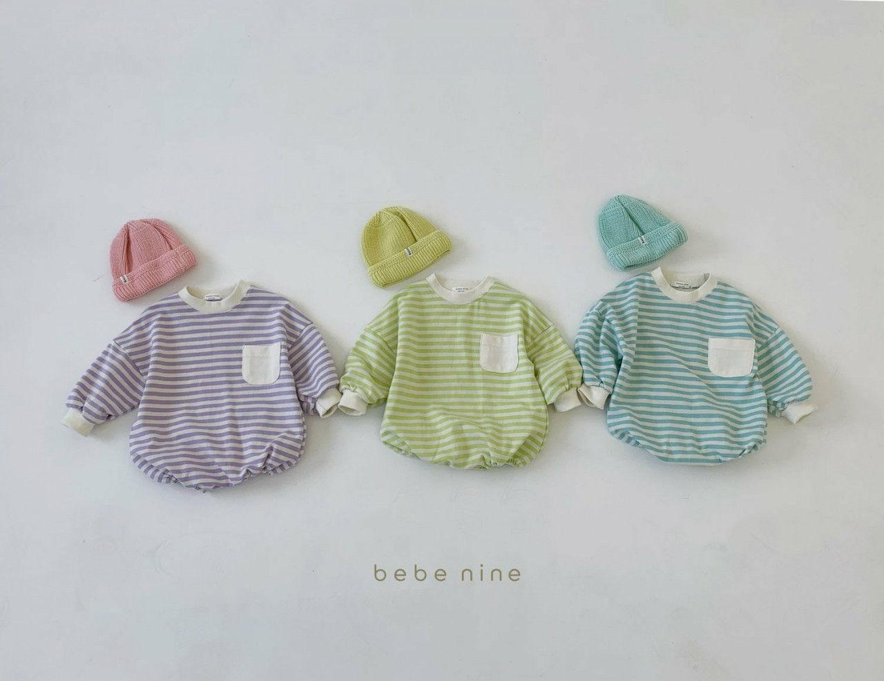 BEBE NINE - Korean Children Fashion - #Kfashion4kids - Candy Stripe Bodysuit - 2