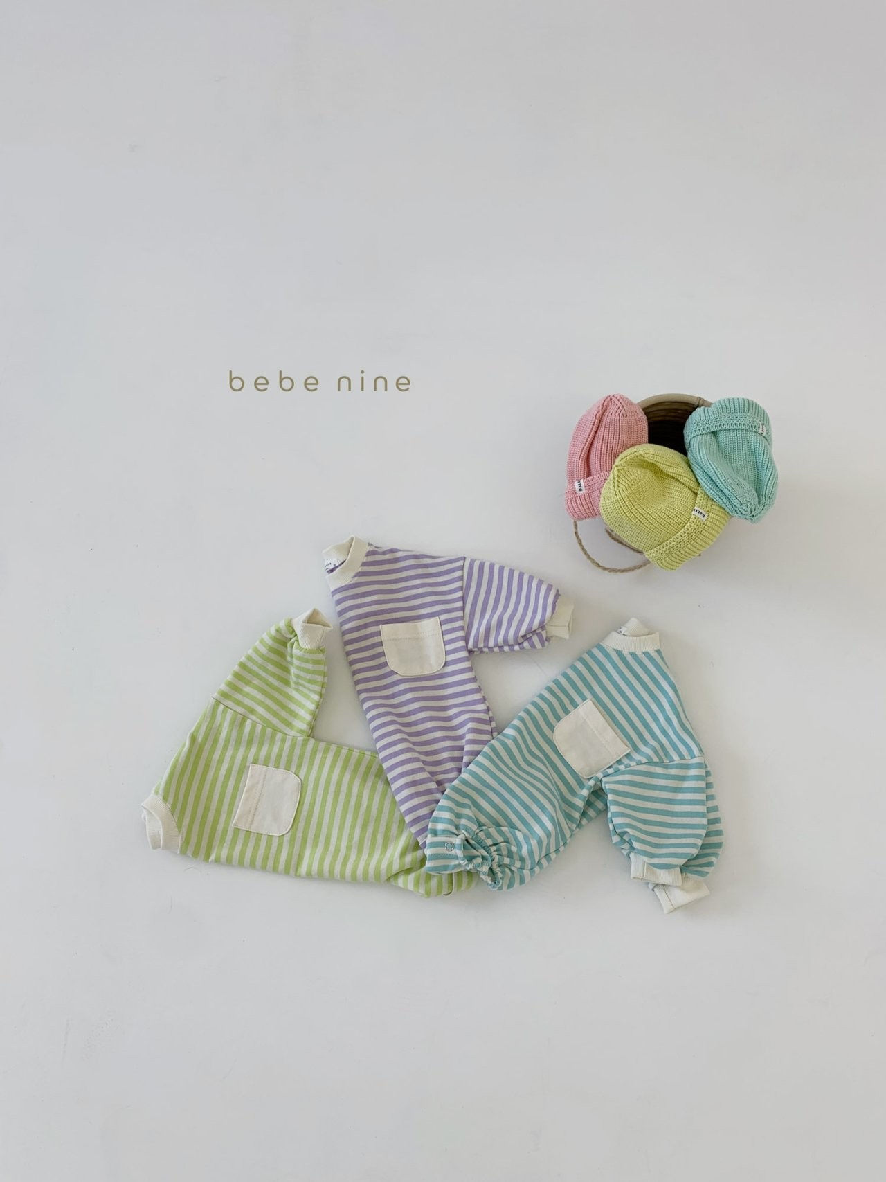 BEBE NINE - Korean Children Fashion - #Kfashion4kids - Candy Stripe Bodysuit - 5