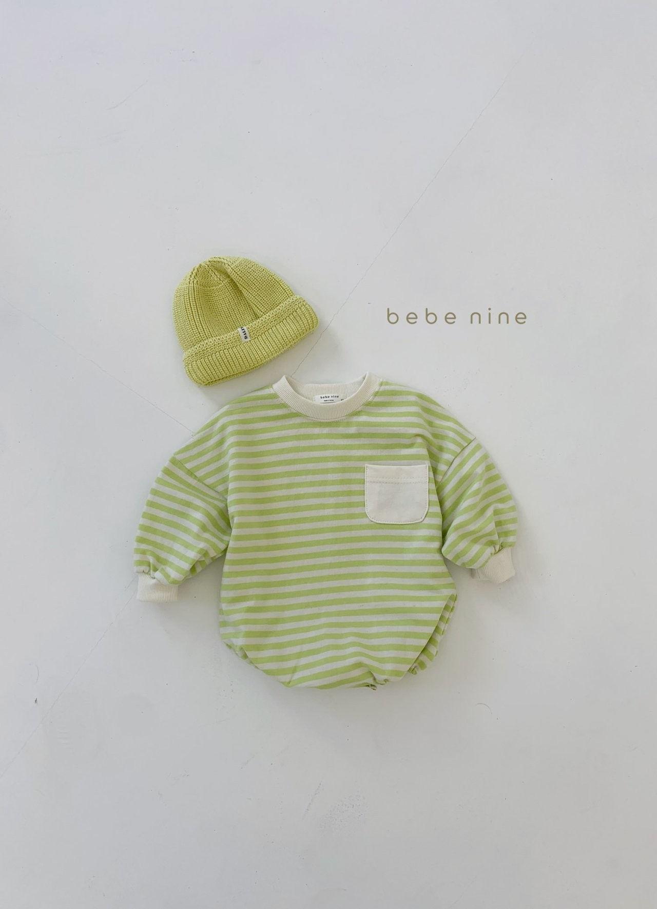 BEBE NINE - Korean Children Fashion - #Kfashion4kids - Candy Stripe Bodysuit - 6