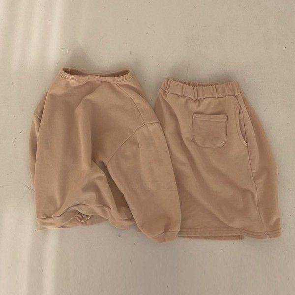 BELLA BAMBINA - BRAND - Korean Children Fashion - #Kfashion4kids - Caramel Top Skirt Set