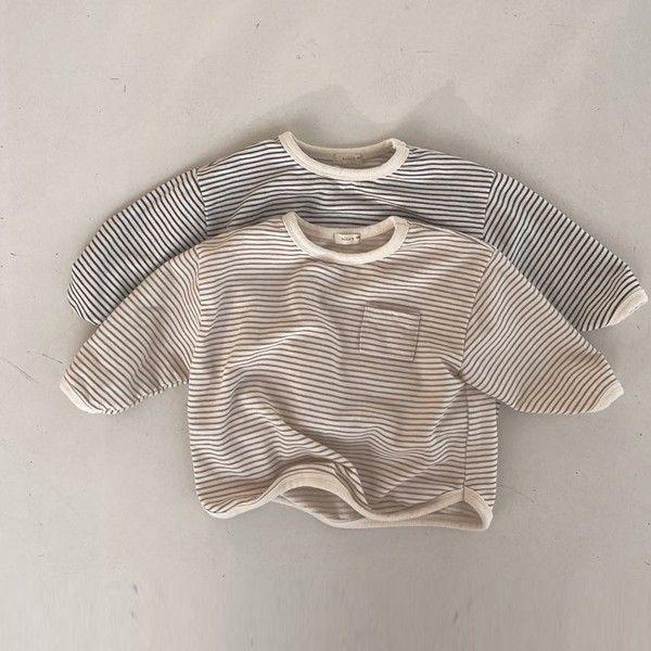 BELLA BAMBINA - BRAND - Korean Children Fashion - #Kfashion4kids - Bebe Stripe Bambam Piping Tee