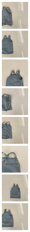 BELLA BAMBINA - Korean Children Fashion - #Kfashion4kids - Rada Denim Suspender One-piece