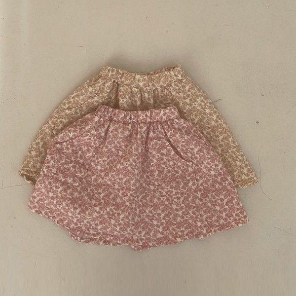 BELLA BAMBINA - BRAND - Korean Children Fashion - #Kfashion4kids - Flower Skirt