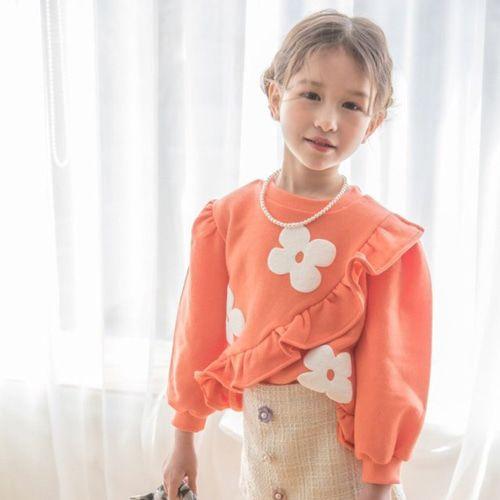 BERRY BERRY - BRAND - Korean Children Fashion - #Kfashion4kids - Daisy Frill Sweatshirt