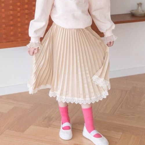 BERRY BERRY - BRAND - Korean Children Fashion - #Kfashion4kids - Pleats Skirt