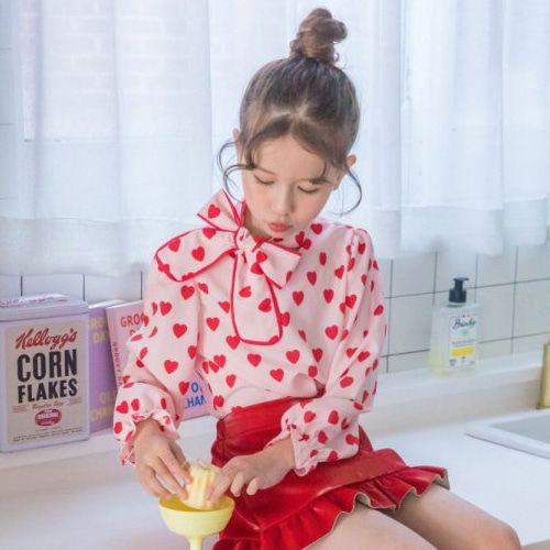 BERRY BERRY - BRAND - Korean Children Fashion - #Kfashion4kids - Heart Blouse