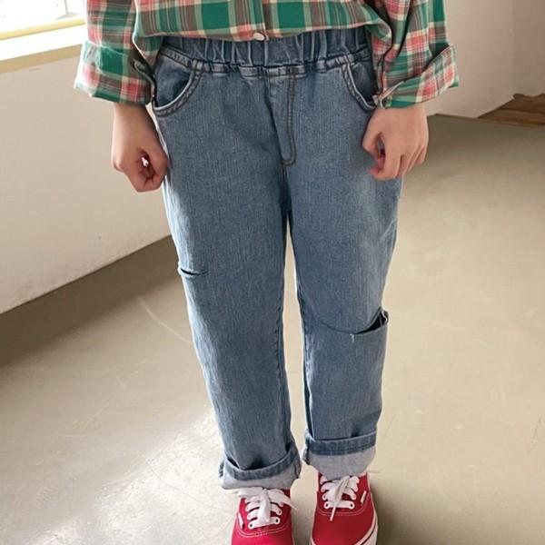 BIEN JOIE - BRAND - Korean Children Fashion - #Kfashion4kids - Rough Denim Pants