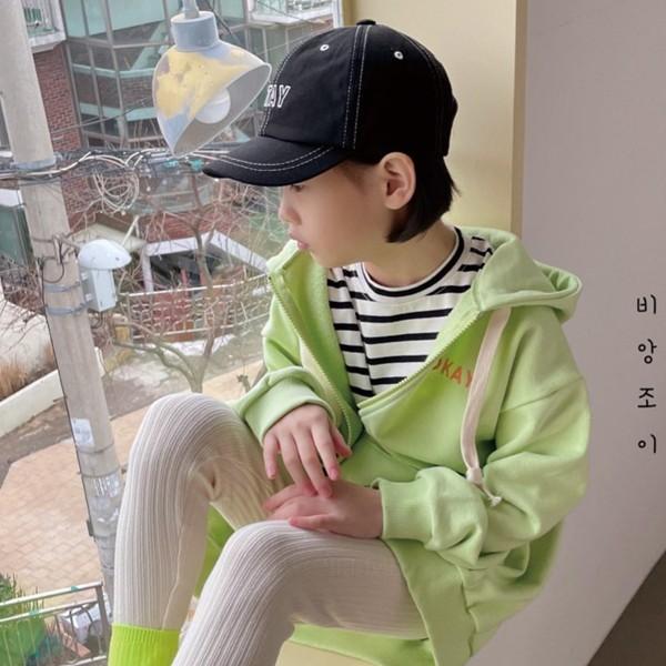 BIEN JOIE - BRAND - Korean Children Fashion - #Kfashion4kids - Okay Hood Zip-up Jacket
