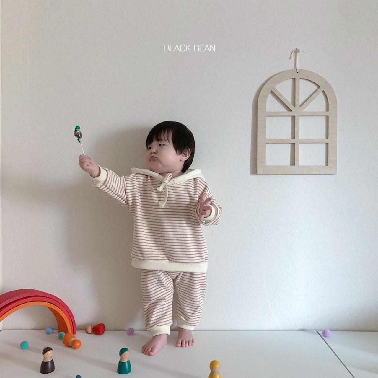 BLACK BEAN - Korean Children Fashion - #Kfashion4kids - Bebe Crayon Top Bottom Set - 6