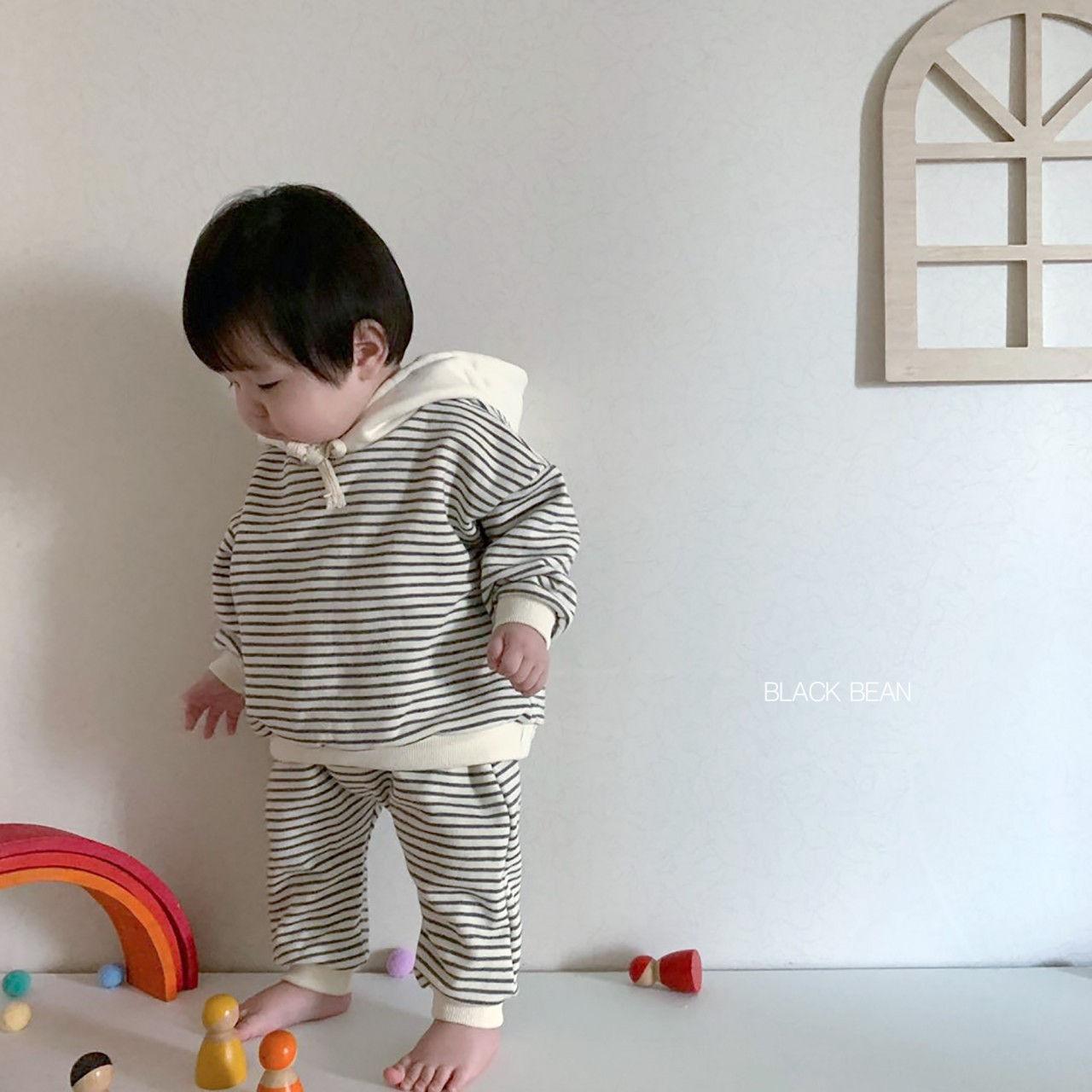 BLACK BEAN - Korean Children Fashion - #Kfashion4kids - Bebe Crayon Top Bottom Set - 9