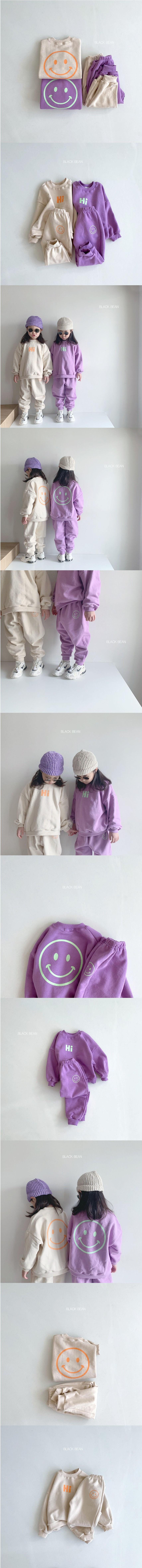BLACK BEAN - Korean Children Fashion - #Kfashion4kids - Hi Top Bottom Set - 2