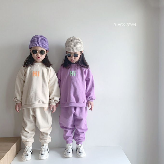 BLACK BEAN - BRAND - Korean Children Fashion - #Kfashion4kids - Hi Top Bottom Set