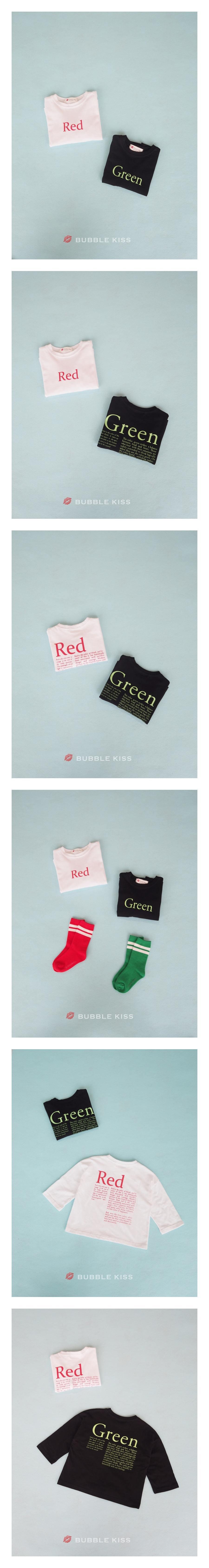 BUBBLE KISS - Korean Children Fashion - #Kfashion4kids - Color Lettering Tee